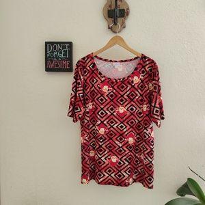 Lularoe 💜 Gigi Santa Holiday Shirt Top Plus Size